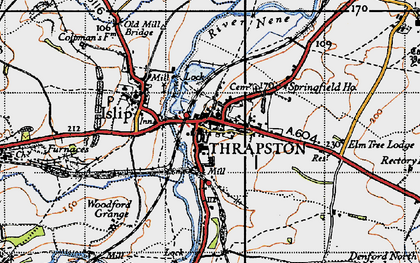 Old map of Thrapston in 1946