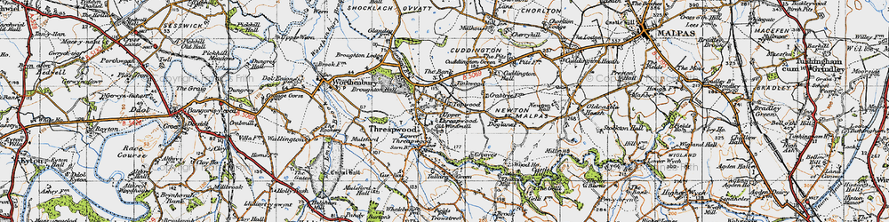 Old map of Tinkwood in 1947