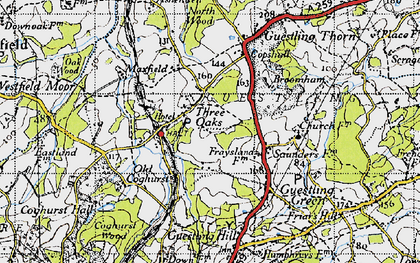 Old map of 1066 Country Walk Hastings Link in 1940