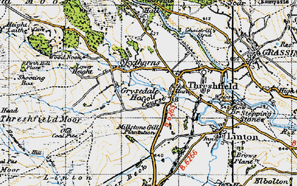 Old map of Threshfield in 1947