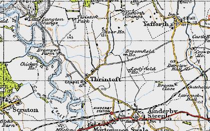 Old map of Yafforth Grange in 1947