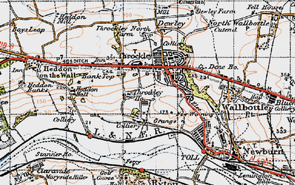 Old map of Throckley in 1947