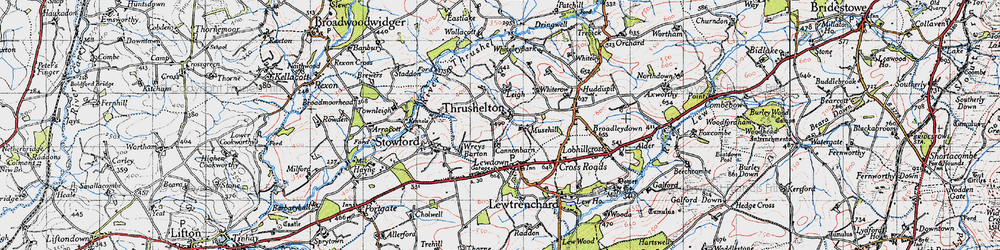 Old map of Wheatley in 1946