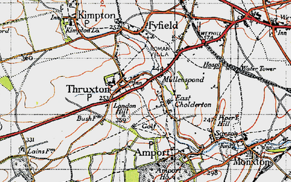 Old map of Thruxton in 1940