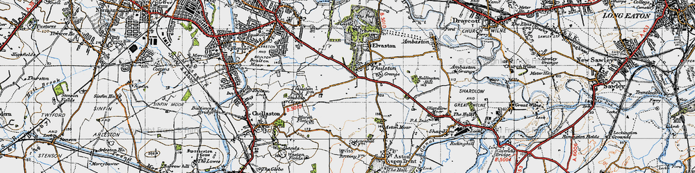 Old map of Thurlestone Grange in 1946