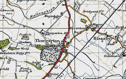Old map of Thurgarton in 1946