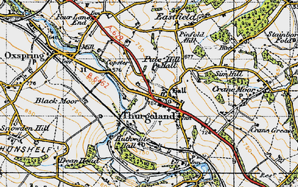 Old map of Thurgoland in 1947