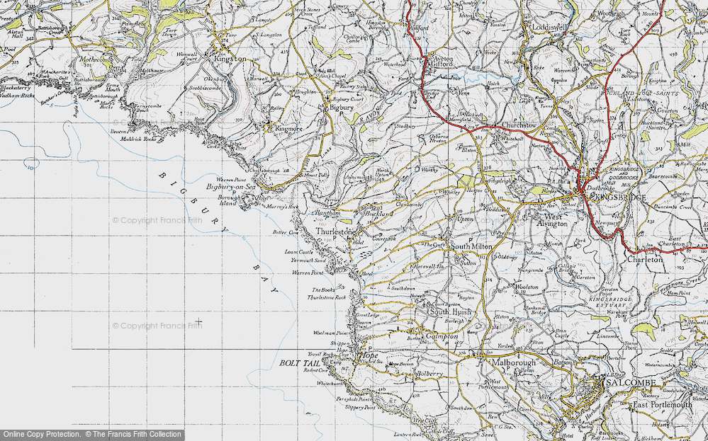 Old Map of Thurlestone, 1946 in 1946