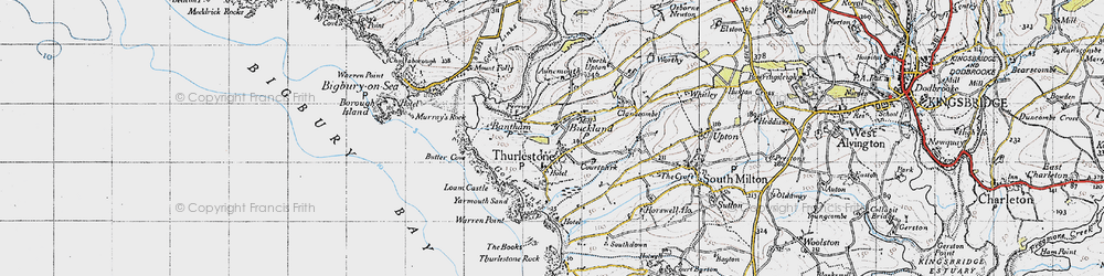 Old map of Thurlestone in 1946