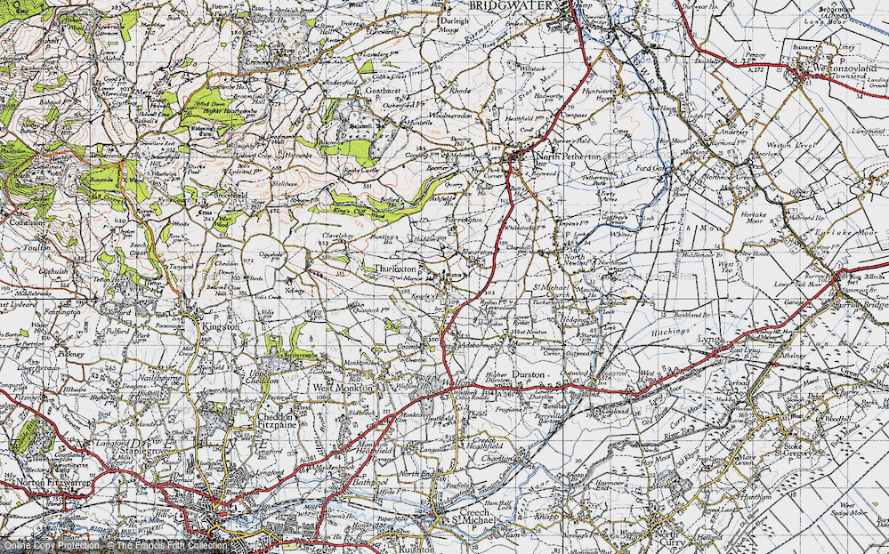 Old Map of Thurloxton, 1946 in 1946