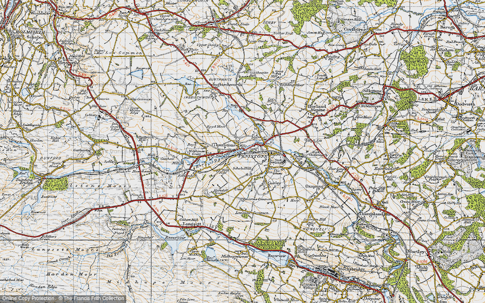 Old Map of Thurlstone, 1947 in 1947
