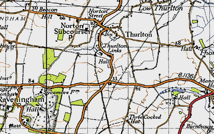 Old map of Thurlton Links in 1946