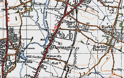 Old map of Thurmaston in 1946
