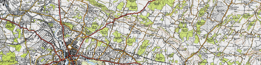 Old map of Thurnham in 1946