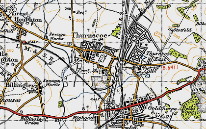 Old map of Thurnscoe in 1947