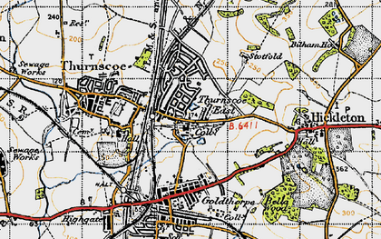Old map of Thurnscoe East in 1947