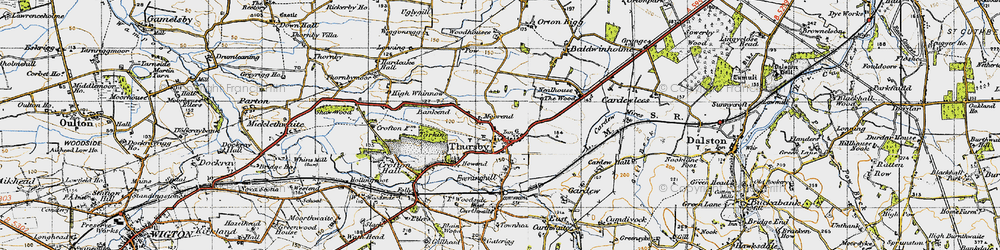 Old map of Thursby in 1947