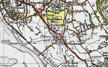Old map of Thurstaston Hill in 1947