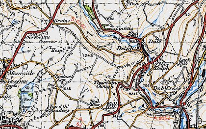Old map of Thurston Clough in 1947
