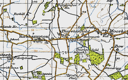 Old map of Woodlands in 1947