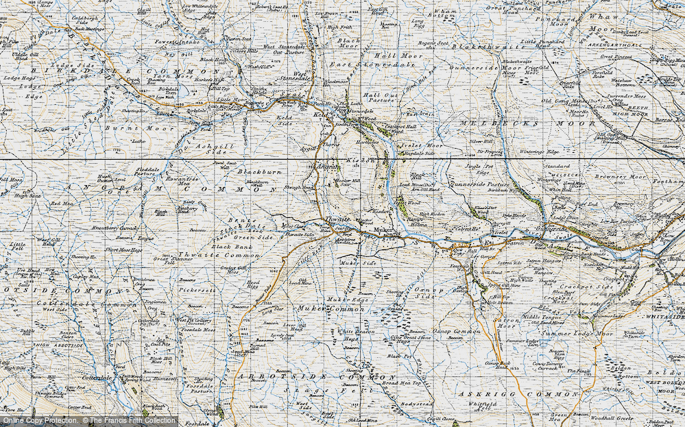 Old Map of Thwaite, 1947 in 1947