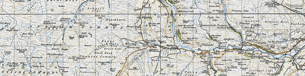 Old map of Thwaite Side in 1947