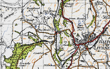 Old map of Thwaite Flat in 1947