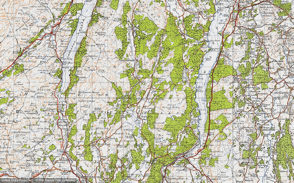 Old Map of Thwaite Head, 1947 in 1947