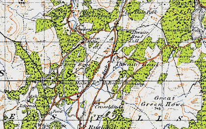 Old map of Thwaite Head in 1947