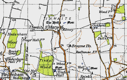 Old map of Tindall Hall in 1946