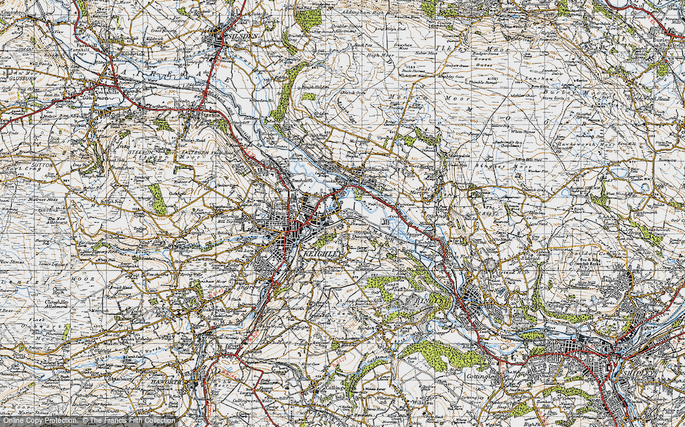 Old Map of Thwaites, 1947 in 1947