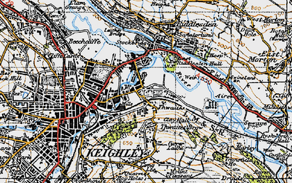 Old map of Thwaites in 1947