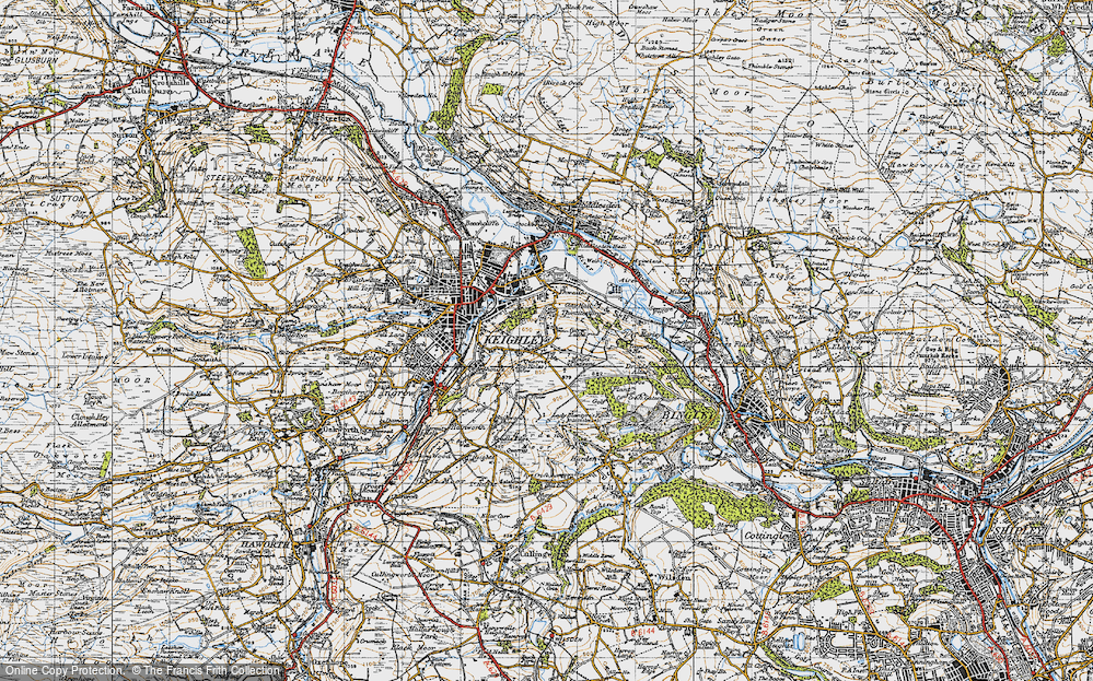 Old Map of Thwaites Brow, 1947 in 1947