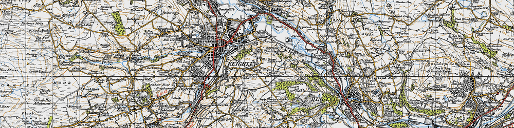 Old map of Thwaites Brow in 1947