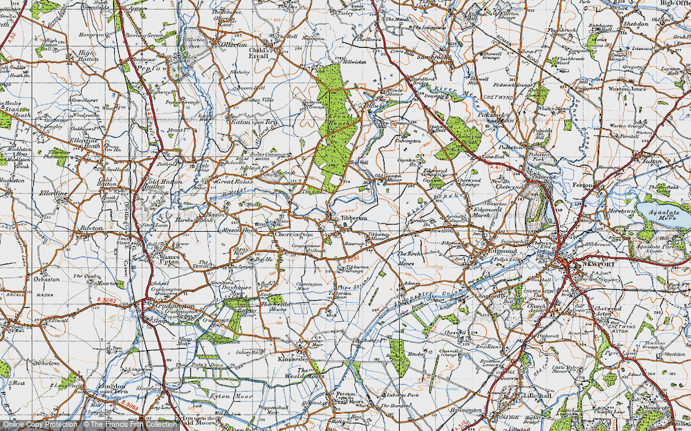 Old Map of Tibberton, 1947 in 1947