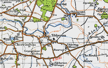 Old map of Tibberton Manor in 1947