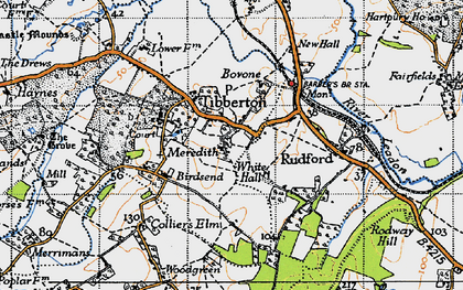 Old map of Tibberton in 1947