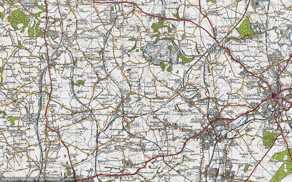 Old Map of Tibshelf Wharf, 1947 in 1947