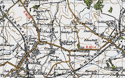 Old map of Tibshelf Wharf in 1947