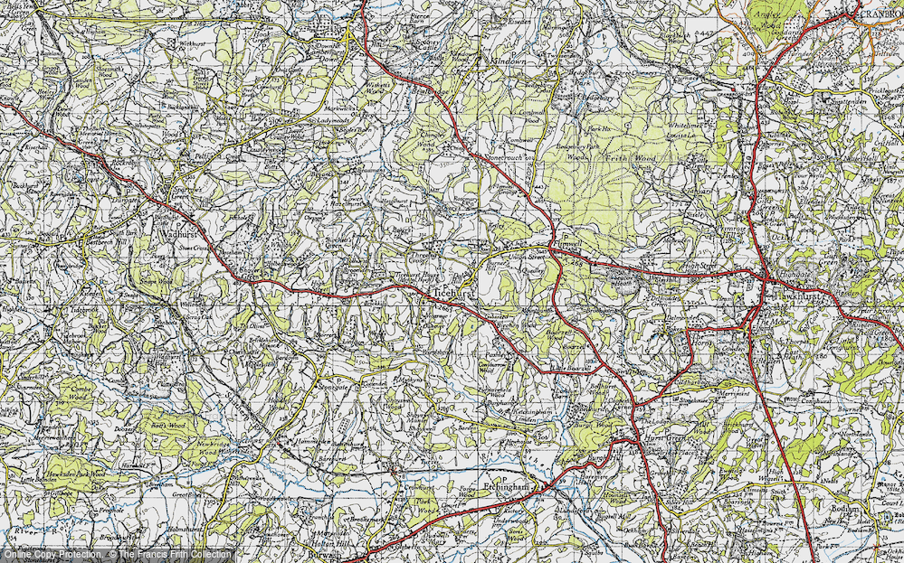 Old Map of Ticehurst, 1940 in 1940