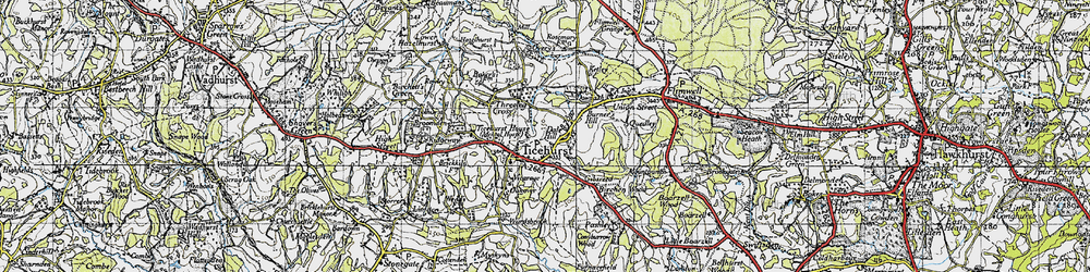 Old map of Ticehurst in 1940