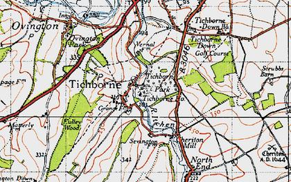 Old map of Tichborne Park in 1945