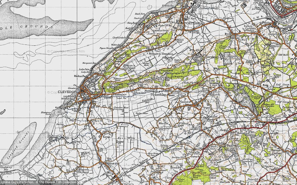 Old Map of Tickenham, 1946 in 1946