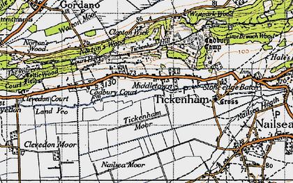 Old map of Tickenham in 1946
