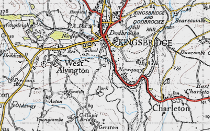 Old map of Ticket Wood in 1946