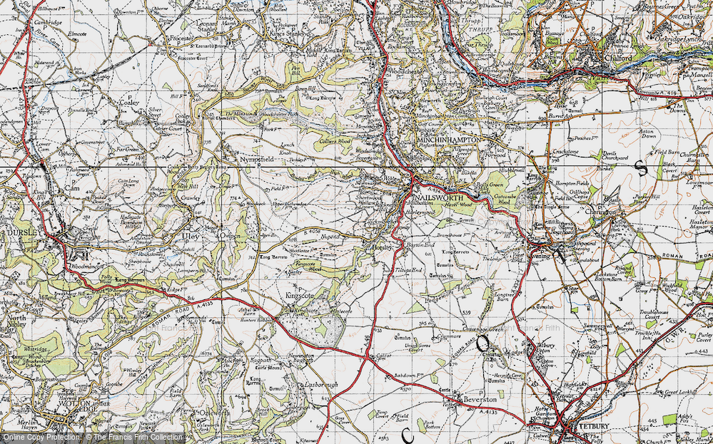 Old Map of Tickmorend, 1946 in 1946