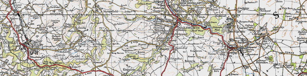 Old map of Tickmorend in 1946