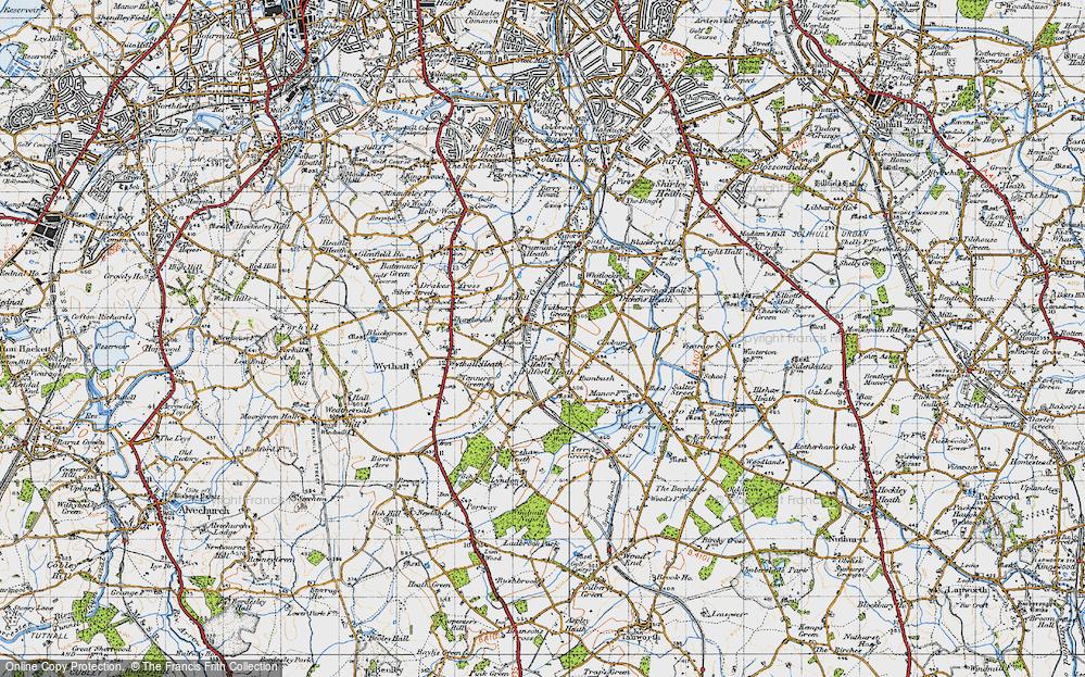 Old Map of Tidbury Green, 1947 in 1947
