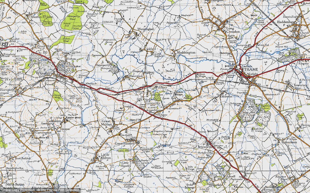 Old Map of Tiddington, 1947 in 1947