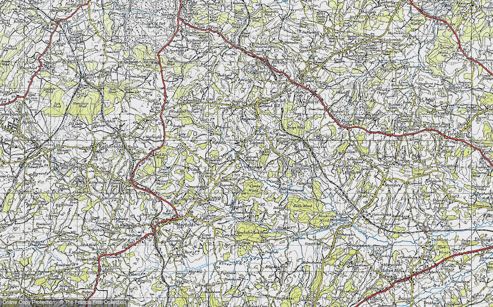 Old Map of Tidebrook, 1940 in 1940